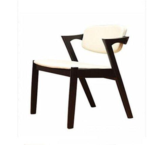 Tabouret en bois Chaise de salle à manger en bois massif nordique Z-Chair soft pack dossier chaises, cafétéria loisirs café tables et chaises (Couleur : C)