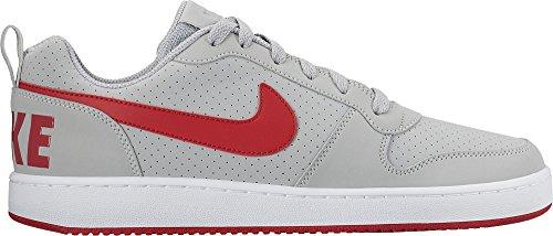 Nike Court Borough Low, Chaussures de Tennis Homme Multicolore (Gris / Rojo / Wolf Grey / University Red / White)