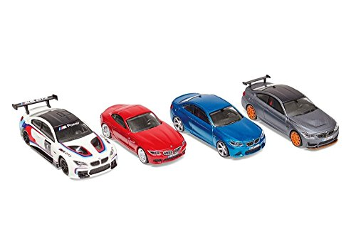 Original BMW miniatura Set 1: 64BMW M6GT3, BMW M4GTS, BMW M2, BMW Z4Kids Colección 2016/2020