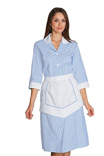 Donna Robinson settore sanitario LIPARI con il grembiule a righe bianche e azzurre himmelblau/gestreift 48