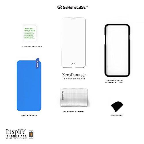 iPhone 7 Hülle, (Rosengoldklar) Inspire SaharaCase Schutz Kit Paket mit Null Schaden [ZeroDamage gehärtetes Glas Bildschirmschutz] Robuster Schutz Anti-Rutsch-Griffigkeit [Stoß sicherer Puffer] Schlan Rosengoldklar