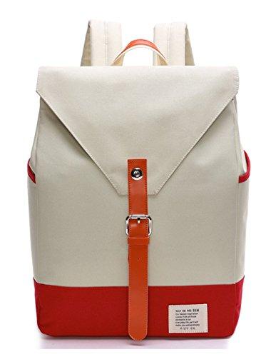 Keshi Leinwand neuer Stil Damen accessories hohe Qualität Einfache Tasche Schultertasche Freizeitrucksack Tasche Rucksäcke Beige