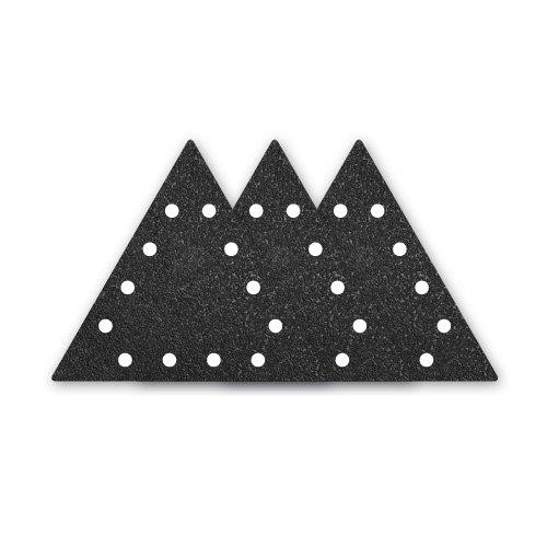 Preisvergleich Produktbild 10 MENZER Klett-Schleifblätter für FLEX WST 700 VV Vario Plus - gelocht, dreieckig - 290x250 mm - Korn 16