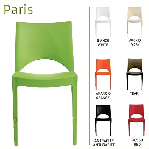 Up-On-Paris-Chaises-en-polypropylne-pour-Intrieur-et-Extrieur-barrestaurant-salle-dattente-cuisine-sjour-salon-jardin-etc-Fabriqu-en-Italie