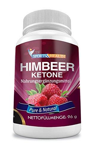 Raspberry Ketone - Himbeer Ketone - 1200mg Himbeer Extrakt pro Tagesdosierung - Fatburner - 2 Monatskur - Made in Germany