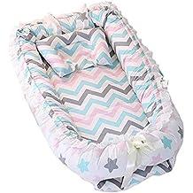 Nido de bebé, Enjoyfeel Desenfundable Lavable Cuna De Viaje - 100% Algodón Suave y