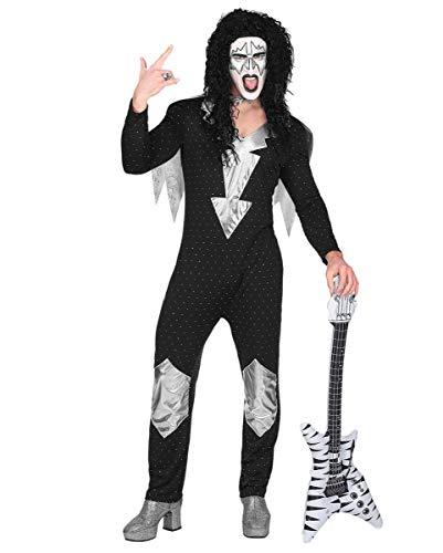 Horror-Shop 70ies Heavy Metal Rock Star Overall - 70er Jahre Kostüm S (Heavy Metal Rock Kostüm)