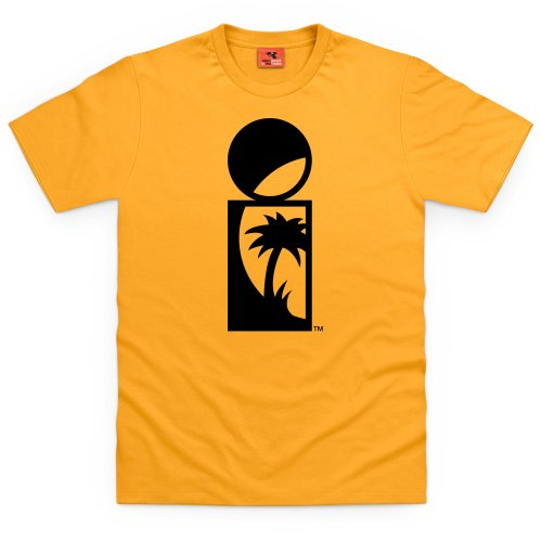 Official Island Records Group Logo Dark T Shirt, Male