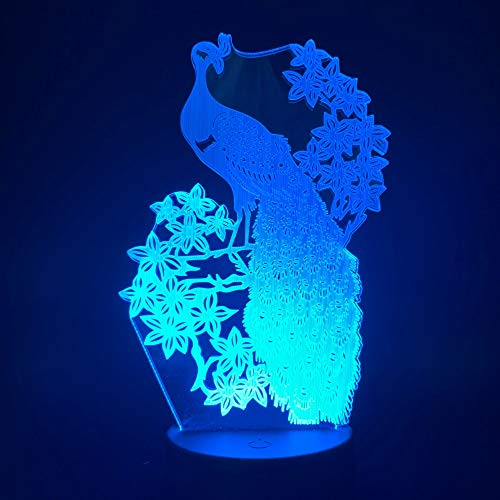Fan notturno 3d pet elfo fan carino bambola mobile colore gradiente luce notturna lampada da tavolo regalo di natale capodanno decorazione camera da letto per bambini