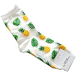 cofco algodón calcetines para mantener caliente Otoño y Invierno de punto calcetines de las mujeres calcetines de Lady, Gama piña, talla única