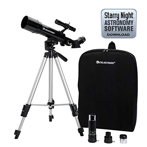 Celestron Travel Scope 50 - Telescopio portable con ampliación de 18x, longitud...