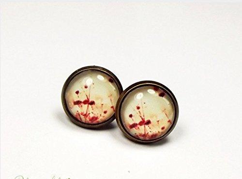 Vintage orecchini come Days Go by, orecchini in bronzo, vintage vecchia orecchini, gioielli da sogn