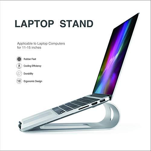 LULUKEKE Laptop-Stand, Aluminum Alloy Desk Cooling Holder, Ventilbarer Laptop-Halter, Portable Laptop Cooling Stand für Laptop (10 inch~17 Zoll)