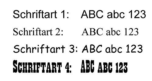 Schiefertafel mit Lasergravur Name Str. Nr. und Ihrem Text/Daten in der gewünschten Schriftart - 3