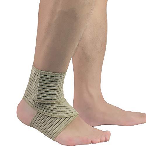 AYEMOY Knöchel stützt den Fuß beim Sport Fußball Atmungsaktive Fußbandage Schutzfunktio Schmerzlinderung und Blutzirkulation behilflich wie Sport Volleyball Übungen Basketball Skifahren Radfahren