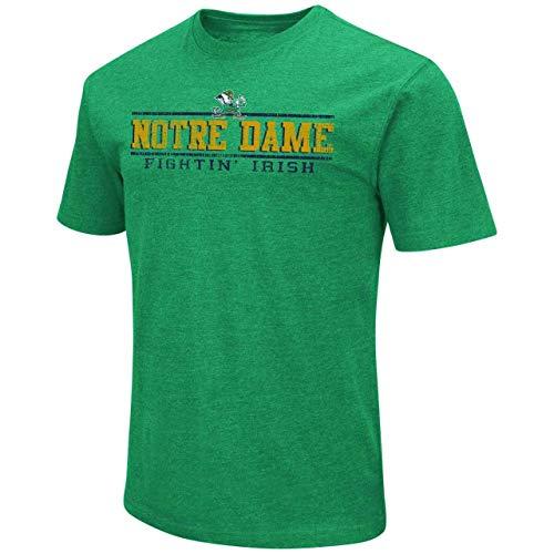 Colosseum NCAA Erwachsenen-T-Shirt, weich, Vintage-Design, Herren, Notre Dame Fighting Irish - Kelly Green, Medium - Ringspun-fußball-t-shirt