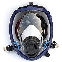 Ligero máscara facial de cara completa Máscara antigás Respirador de polvo ácido Pintura de plaguicida Filtro de silicona Máscara facial