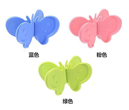 Anti Heiß Platte Clip 2Pcs Butterfly Hot Dish Bowl Anti-Scalding Clip Magnetic Refrigerator Clip (Random Color) -