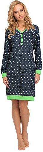 Cornette Damen Nachthemd 654 2015 (Navy, L)