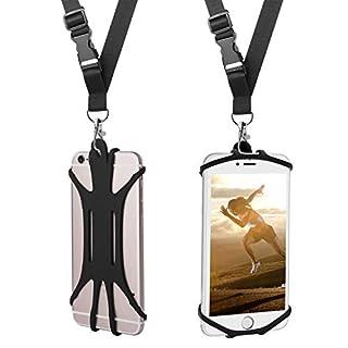 ARMRA Handy Lanyard Case, Universal Handy Halter Handsfree Smartphone Abdeckung mit verstellbarem Halsband kompatibel mit iPhone X 8 7 6 Galaxy S9 S8 Moto LG & More