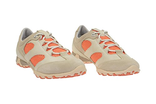 GeoxGeox Freccia Schuhe grau beige orange - D52C0A - Sneaker Donna Grigio (grigio)