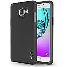Funda Galaxy A5 (2016 Publicado) OMOTON Carcasa para Samsung Galaxy A5 (2016 Released)[Color de Plata][Doble Capa] Negro