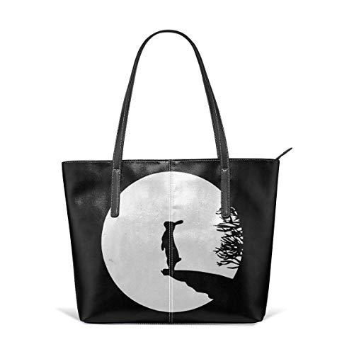 xcvgcxcbaoabo Mode Handtaschen Einkaufstasche Top Griff Umhängetaschen Bunny Moon Oversized Leather Handbag Clearance Sale