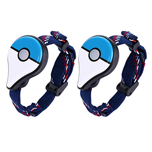 AMAZING DEAL Bluetooth Interactive Forpokemon - AMAZING DEAL 2Pcs Bluetooth Wristband Watch Interactive Figure Toys Forpokemon Go Plus Bluetooth Wristband Bracelet Watch Game Accessory Blue(2pcs)