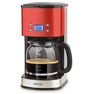 HKoenig-MG30-Kaffeefiltermaschine-12-20-Tassen-15-L-LCD-Bildschrim-programmierbar-rot