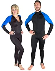 Storm Black/Blue Lycra Scuba Diving Skin - Size Medium
