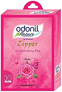 Odonil Airfreshener Zipper Scintillating Rose - 10 g (Pack of 6)