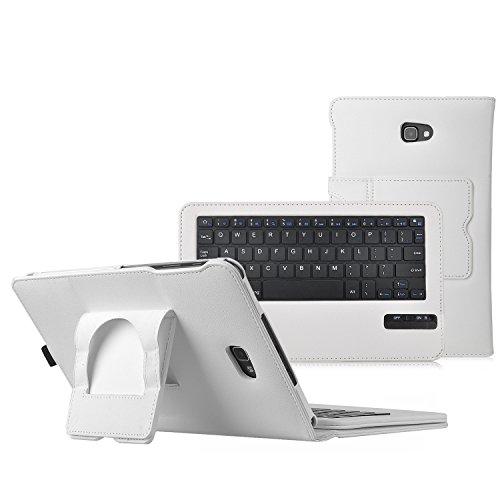 iBetter Samsung Galaxy Tab A 10.1 Bluetooth Tastatur Hülle Keyboard Case [QWERTZ Tastatur]- tastatur Hülle Ultradünn leicht SmartShell Ständer Schutzhülle mit magnetisch abnehmbar drahtloser Bluetooth Tastatur für Samsung Galaxy Tab A 10.1 Zoll T580N/T585N 2016 Tablet (Weiß)