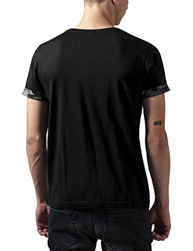 Urban Classics Herren T-Shirt Camo Contrast Pocket Tee Mehrfarbig (dark camo 784)