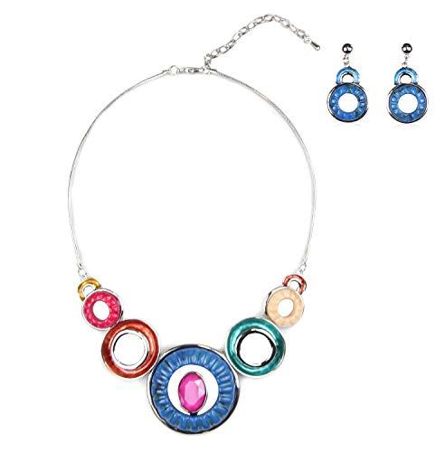 Vanessa & Melissa Damen und Mädchen Schmuck-Set mit Collier Halskette & Ohrringen in verschiedenen Designs und Farben