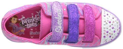 Skechers Shuffles Triple Time, Baskets mode fille Rose (Nppr)