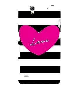 Pinkish Love 3D Hard Polycarbonate Designer Back Case Cover for Sony Xperia C4 Dual E5333 E5343 E5363 :: Sony Xperia C4 E5303 E5306 E5353