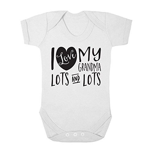 I Love My Grandma Lots and Lots Cute Boys and Girls Baby Vest Bodysuit