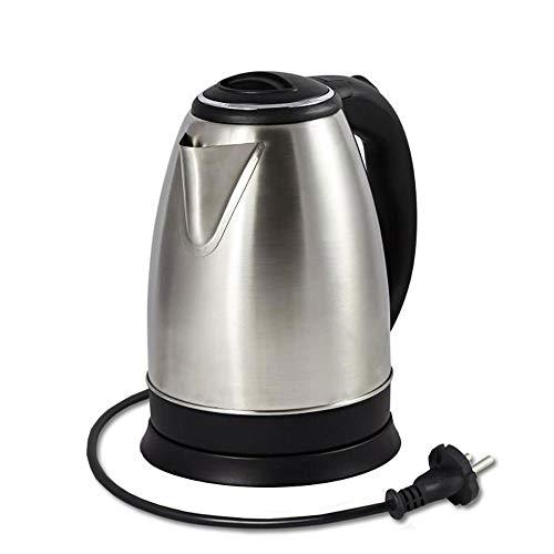 Vetrineinrete® bollitore elettrico in acciaio 1500 watt scalda bevande capacità 1,8 litri con base di rotazione a 360° per acqua calda tisane tè a110