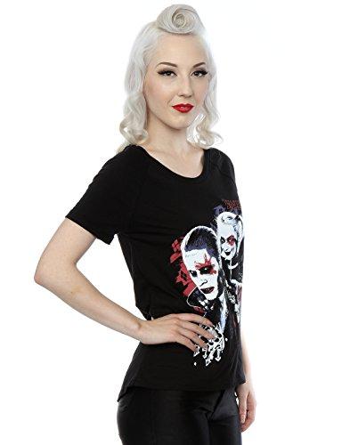 Suicide Squad Femme Harley Quinn Puddin Scoop Neck T-Shirt Noir