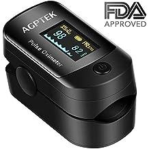 Oxímetro de Pulso de AGPTEK, Pulsioxímetro de Dedo y Monitor de Frecuencia Cardíaca con Pantalla