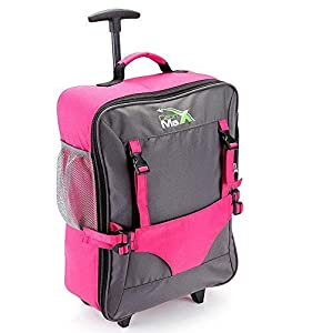 Cabin Max Bear Childrens Luggage Carry On Trolley Suitcase - Bright Colours - Take Your Favourite Bear/Doll/Action Figure on Holiday