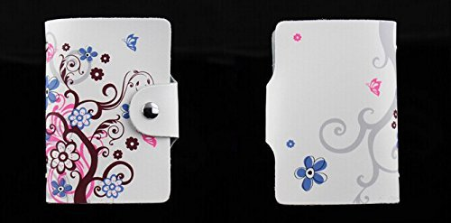 MYLB LEDER KREDITKARTENETUI KARTENETUI VISITENKARTENETUI mit Platz für 26 Kreditkarten bei Doppelbelegung mit Karten (QGY-BK) DLH