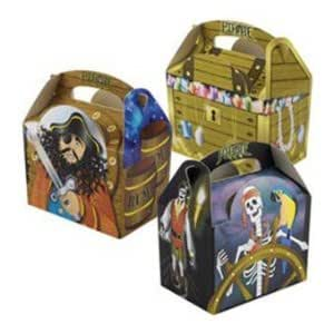 Pirate Captain Party Food/Goodies Boxes (10 supplied)