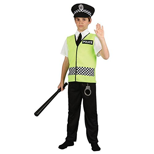 Policeman Childrens Fancy Dress Costume Boys Police Officer Cop Outfit