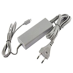 OSTENT EU Type Home Ladegerät AC Adapter Netzteil Kompatibel für Nintendo Wii U Gamepad