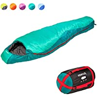 KeenFlex Mumienschlafsack 350-3 Jahreszeiten -5℃ + 15℃ - Hochentwickeltes Wärmeregulierungssystem – Ideal für Camping, Backpacking oder Wandern