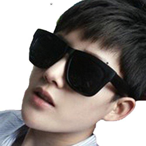 HCIUUI Sunglasses men polarizer retro female sunglasses men driving tide 2018 black ultra round round frame big box sunglasses