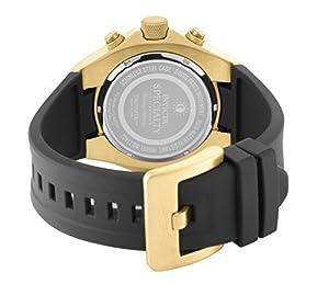 Para hombre Invicta reloj infantil de cuarzo con esfera cronógrafo y negro correa de PU 21402 de INVICTA