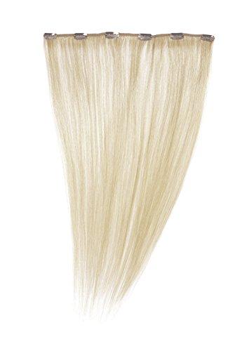 American Dream - A1/QFC12/18/60-100% Cheveux Naturels - Barrette Unique Extensions à Clipper - Couleur 60 - Blond Pur - 46 cm