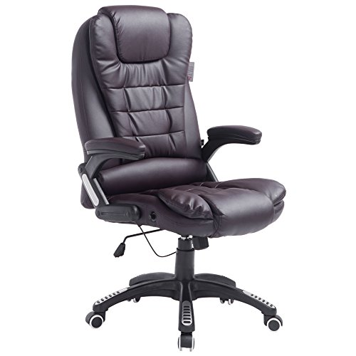 Executive Recline Extra Padded Office Chair (Standard, Brown)